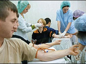 Число доноров в РФ выросло в среднем до 14 на тысячу человек