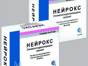 Применение препаратов Нейрокс® и Церетон® в комплексном лечении цереброваскулярных заболеваний