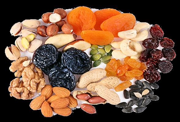 Арахис, орехи и сухофрукты – являются идеальными продуктами для перекусов