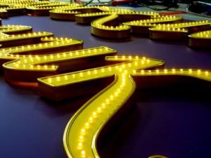 Производство современной светодиодной рекламы