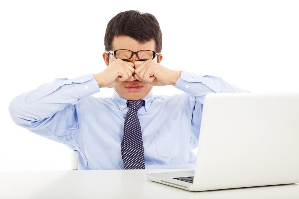 Снижение остроты зрения при работе за компьютером