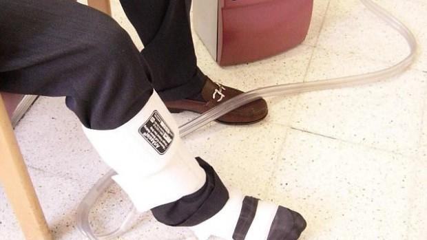 Вибрирующий ботинок поможет улучшить кровоток в ногах